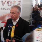 Ministar zdravlja Rajko Ostojić na HUHIV Info štandu
