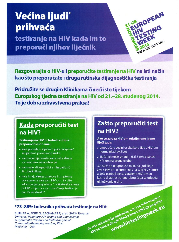 Europski tjedan testiranja na HIV 1