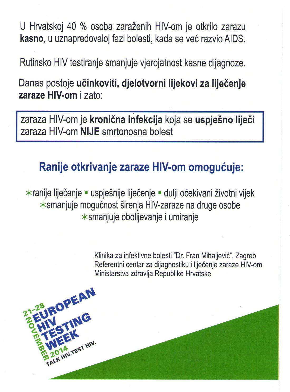 Europski tjedan testiranja na HIV 2
